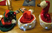 Noël père Noël et Elf LED chapeaux