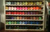 DIY Craft Paint Organizer affichage du morceau de bois