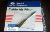 Comment remplacer le filtre à air cabine sur la Hyundai Tiburon 2008