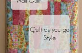 Patchwork Quilt-as-you-go mur