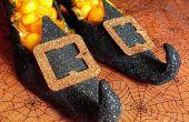 Qui brillaient sorcière chaussure bonbonnières