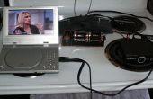 Faible coût piles portable grand écran TVN