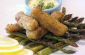 Aneth maison parfumé les bâtonnets de poisson aux asperges grillées