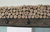 Tranche-portemanteau en bois