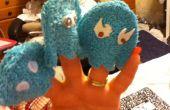 Pas coudre Pac Man Ghost marionnettes à doigt