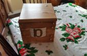 6 en bois boîte de serrure à combinaison de roue