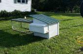 Habitat de poule récupérés, réutilisés, recyclés et Coop.