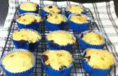 Faible en gras, sucre banane gratuit et Muffins aux bleuets