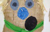 Épouvantail chef décoration : projet d'Art école primaire