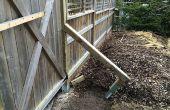Clôture des système de contreventement - comment faire pour caler les poteaux de clôture
