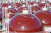 Les algues photobioréacteur hémisphérique (Marcel projet) d'élevage