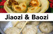 Baozi (chinois farcis petits pains cuits à la vapeur) et Jiaozi (raviolis chinois) à partir de zéro