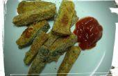 Courgettes frites cuites au four