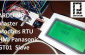 Arduino Modbus RTU maître et HMI GT01 Panasonic