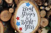 Stars and Stripes patriotique bois tranche !