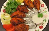 Paléo le poulet Tandoori et une noix de coco crème Dip
