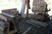 Rack palette de tri de bois de
