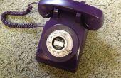 Purple téléphone à cadran