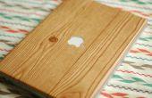 Ordinateur portable de Grain de bois bricolage envelopper
