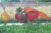 Jardin potager clôture murale