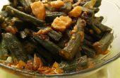 Khatti Meethi Bhindi (Lady aigre doux doigt/gombo) recette de Kadai sain