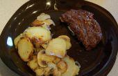 Superbes barbecue pommes de terre et champignons