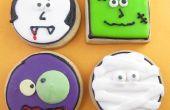 Les cookies de visage de monstre