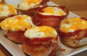 Les oeufs enrobés de bacon pour le petit déjeuner