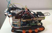 Johnny5 Arduino Robot DfRobotshop rover avec interface html télécommande