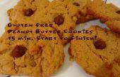 Gluten Free Peanut Butter Cookies : 15 Minutes début à la fin !