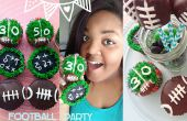 Football Cupcakes Party & guimauve pop