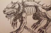 Comment dessiner un chien démon