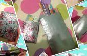 Retour à l'école conduit bande argent titulaire et Pencil Case