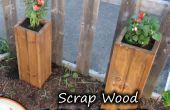 Planteurs de ferraille bois jardin