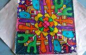 Page de coloriage adulte (Radial Art)