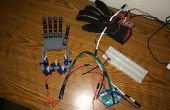 Gant contrôlée main robotisée - Version Simple et peu coûteuse