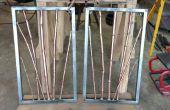 Cuivre et laiton bambou en acier cadre Sculpture Tenture murale
