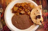Hachage mexicain ou Papas Con Chorizo (saucisse mexicaine w pommes de terre)