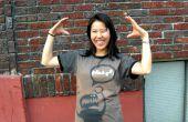 T-shirts avec des pochoirs et eau de Javel (mis à jour avec l'image du robot pour le téléchargement)