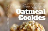 Comment faire sans Gluten, végétalien biscuits à l'avoine | Seulement 2 ingrédients