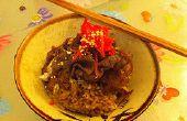 Gyudon japonais de boeuf riz