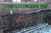Bâche de protection du bois de chauffage sans bretelles