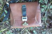 Courier Bag Upcycled du modèle gilet/veste de cuir