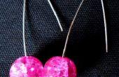 Hot Pink Mod boucles d'oreilles
