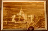 Plaque d'image de bois (j'ai fait à TechShop!)
