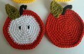 Au crochet, sous-verres Apple