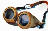 En cuir Steampunk lunettes