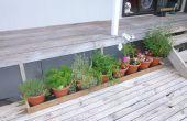 Faire un creux de pot pour économiser l'eau sur votre terrasse