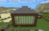 Comment faire un toit en appentis sur Minecraft