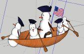 George Washington Frosty traversant la Delaware